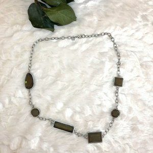 3/$12 Silver Art Deco Inspired Necklace